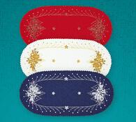 Vánoční ubrus s potiskem, modrá, 85 x 85 cm
