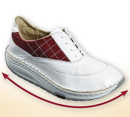 Dámské boty s aktivní podrážkou, bílá +červená