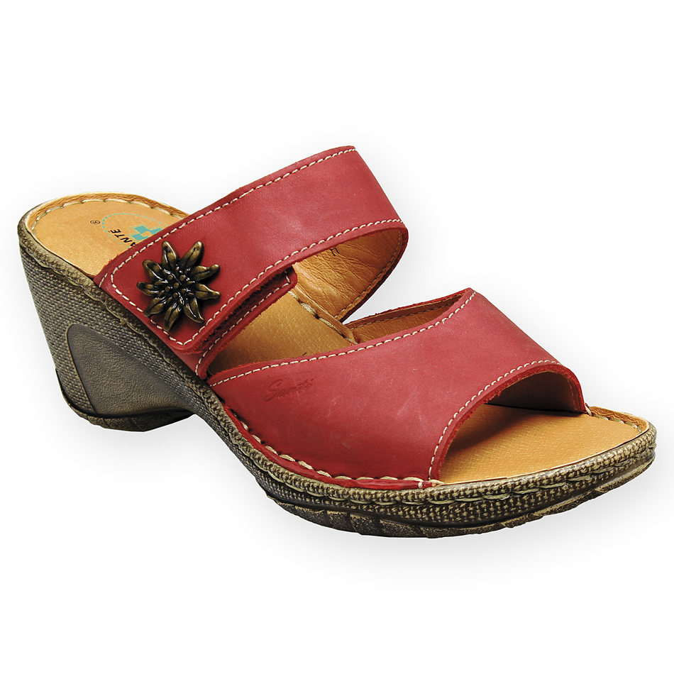 Pantofle Santé, červené, 38
