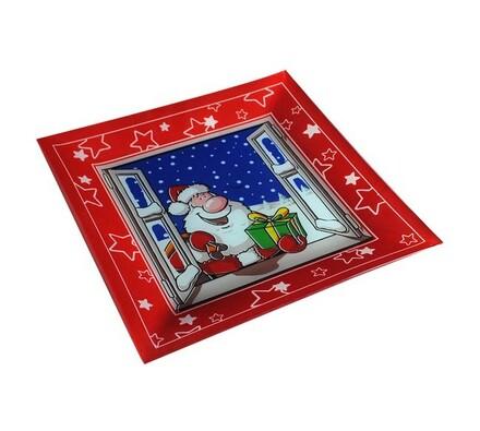 Podnos vánoční dekor, sklo