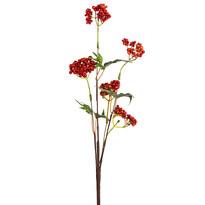 Umělá větvička s bobulkami a lístky 50 cm, oranžová