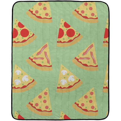 Butter Kings Kemping pléd Tasty pizza, 145 x 180 cm