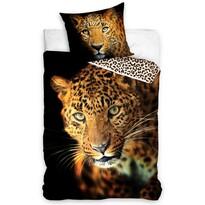 Lenjerie din bumbac Leopard, 140 x 200 cm, 70 x 90 cm