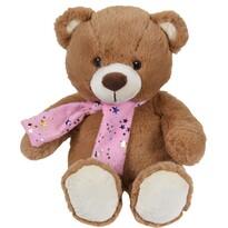 Plyšový medvídek se šálou hnědá, 29 cm