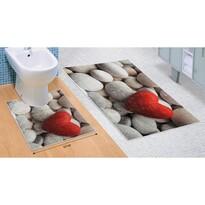 Set de covorașe de baie Pietre 3D, 60 x 100 cm, 50 x 60 cm