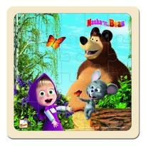 Bino Puzzle Masza i Niedźwiedź z myszką, 20 x 20 cm