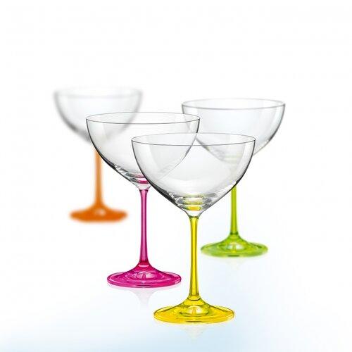 Crystalex 4-częśćiowy komplet kieliszków na wino neON, 340 ml.