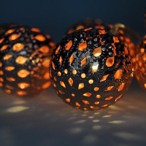 Solight 1V207-C Světelný vánoční řetěz Koule měděná, 10 LED