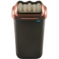 Coș de gunoi Aldotrade FALA 30 l, negru/auriu