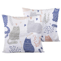 4home Povlak na polštářek Nordic Cats