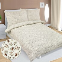 Lenjerie de pat din flanelă Floricele, 140 x 200 cm, 70 x 90 cm
