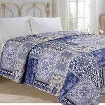 Narzuta na łóżko Orient niebieski, 140 x 220 cm