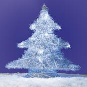 Svíticí stromeček stříbrná barva - LED, stříbrná