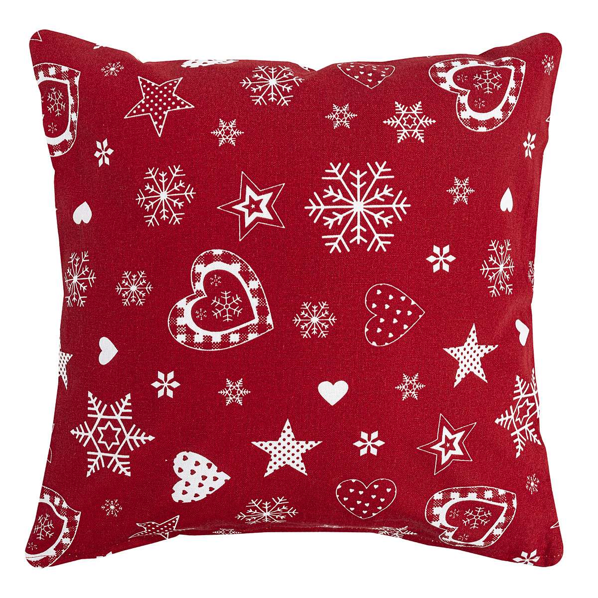 Forbyt Vianočná obliečka na vankúšik 2013 červená, 40 x 40 cm