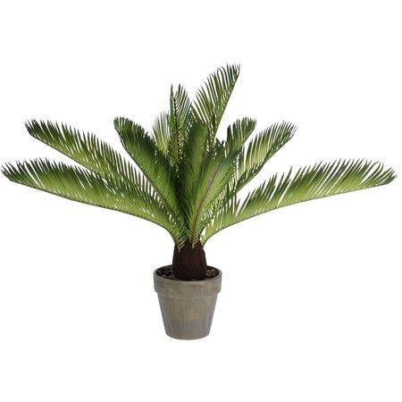 Umělá Palma v květináči světle zelená, 50 cm