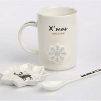 Altom Kubek porcelanowy w pudełku ozdobnym Nordic Winter reindeer 360 ml