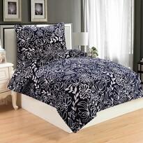 Lenjerie de pat Hortensie Blue, din micro-pluș, 140 x 200 cm, 70 x 90 cm