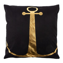 Pernuţă Gold De Lux Ancoră, negru, 43 x 43 cm