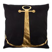 Polštářek Gold De Lux Kotva černá, 43 x 43 cm
