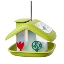 Plastia Alimentator pentru păsări Casuță, verde