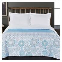 DecoKing Prehoz na posteľ Alhambra modrá, 220 x 240 cm