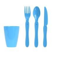 Piknik műanyag étkészlet, 31 db,, kék