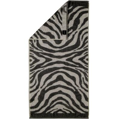 Cawö Frottier ręcznik Zebra czarny, 50 x 100 cm