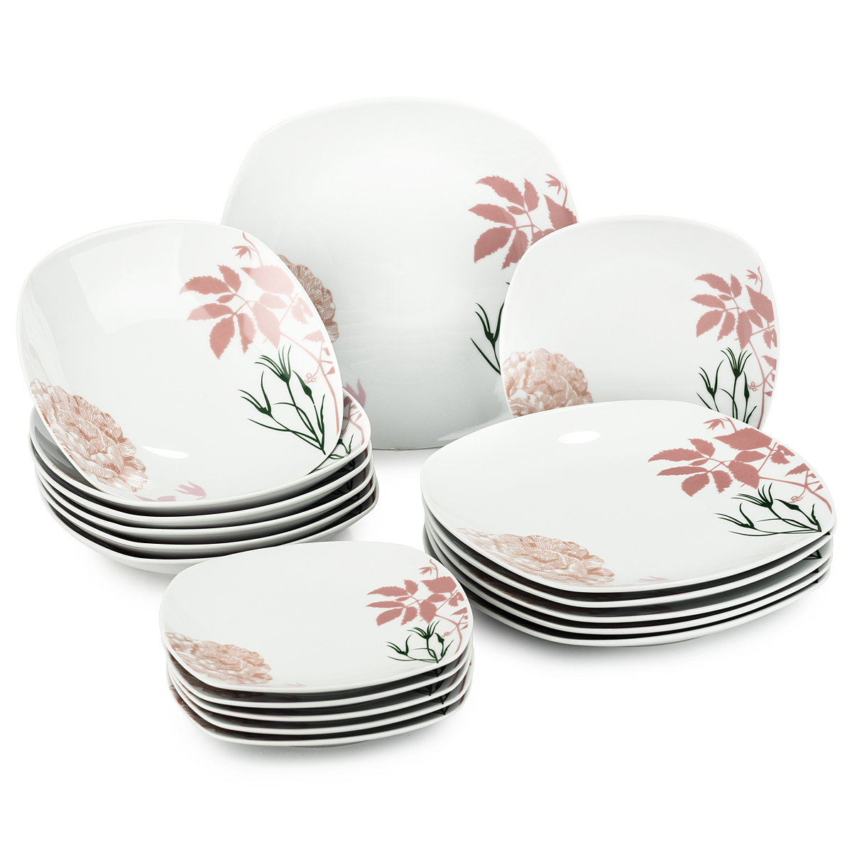 Altom sada porcelánových tanierov Grace, 18 ks