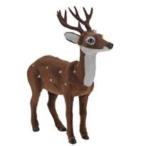 Dekoracja plastikowa z imitacją sierści Młody jeleń, 26,5 cm