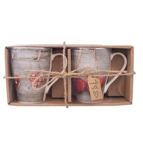 Orion Love Hearth ajándék porcelánbögre szett,  380 ml, 2 db