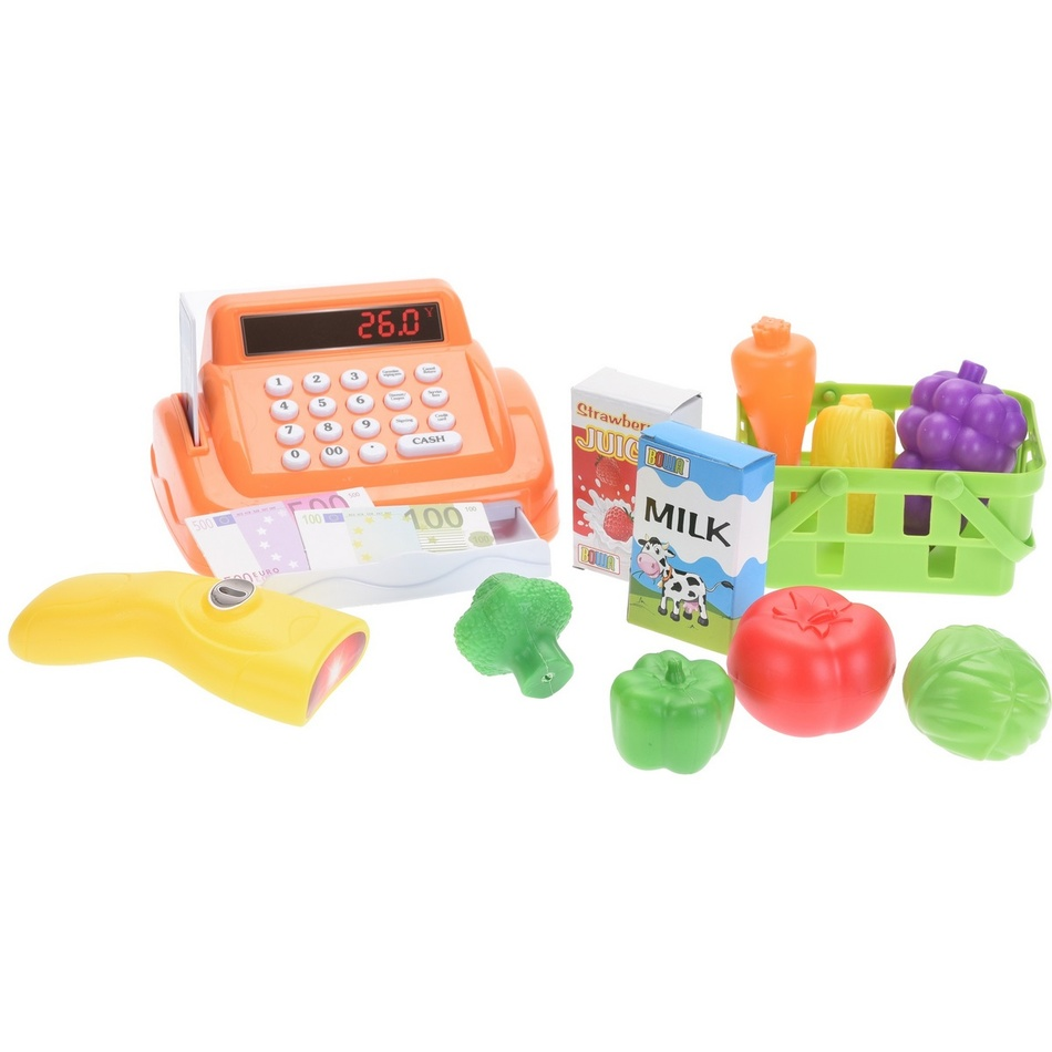Dětský hrací set Pokladna, oranžová
