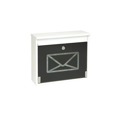 Poštovní schránka s tvrzeným sklem bílá
