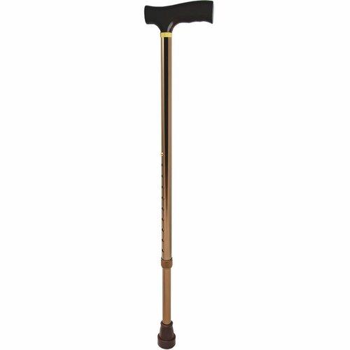 Vycházková nastavitelná hůl hnědá, 96 cm