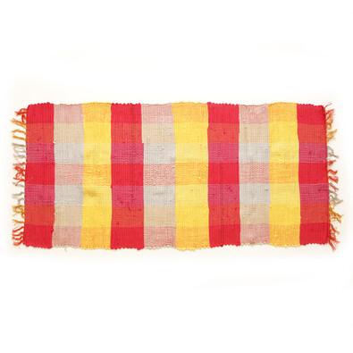 Tkaný koberec červená, 70 x 140 cm