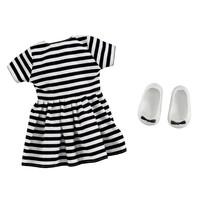 Addo B - Friends Oblečenie Pruhované šaty, 2 diely