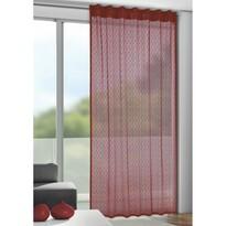 Calli függöny akasztópántokkal, piros, 140 x 245 cm