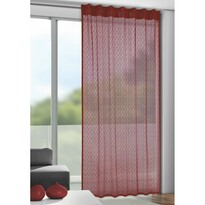 Záclona s pútkami Calli červená, 140 x 245 cm