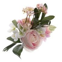 Umělá kytice růží a hortenzií, 35 cm