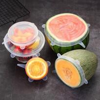 Florina 6 db-os, univerzális szilikon fedő szett élelmiszerekre