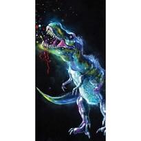 Jerry Fabrics Osuška Dinosaur Black, 70 x 140 cm