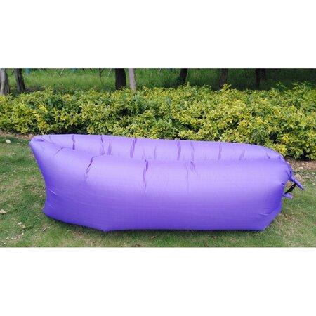 Lazy Bag önfelfújható hálózsák, lila