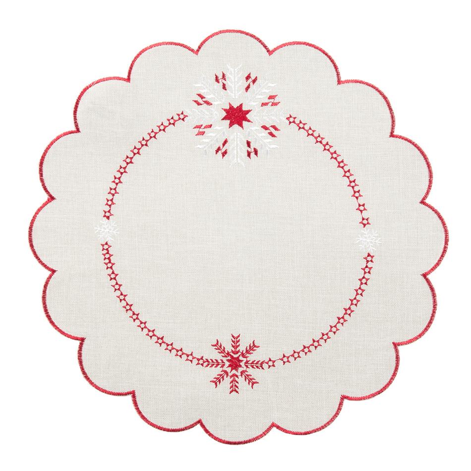 Forbyt Vánoční ubrus Vločky, pr. 35 cm, pr. 35 cm