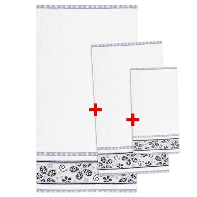 Výhodná sada ručníků a osušky Fiora bílá