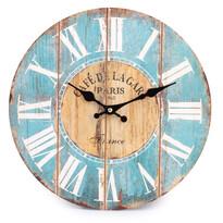 Nástěnné hodiny římské číslice modrá