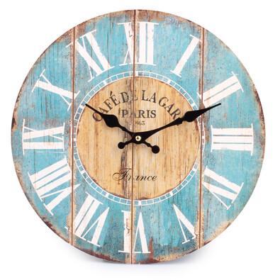 Nástěnné hodiny římské číslice, modrá