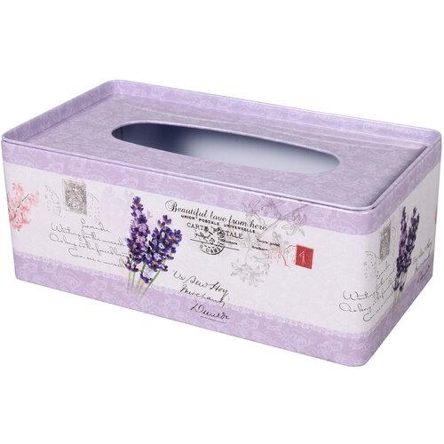 Levendula zsebkendőtartó doboz, 24 x 13 x 10 cm