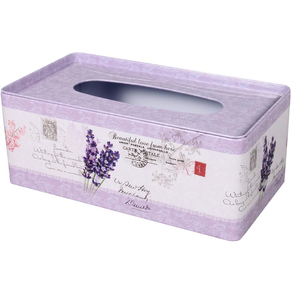 NG 96200 Box na kapesníky Levandule, 24 x 13 x 10 cm
