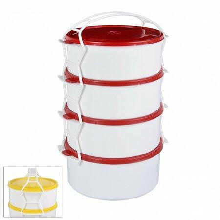 STAR műanyag 4 emeletes ételhordó 1,2 l
