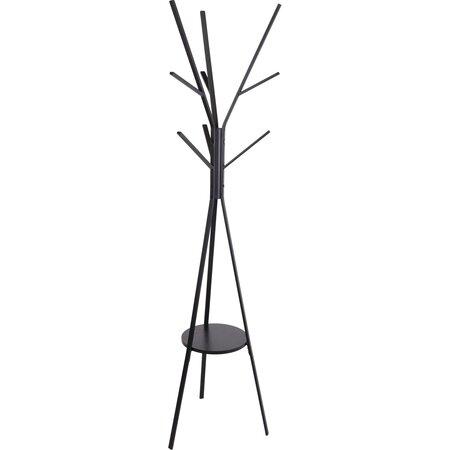Moderní kovový stojan s 9 háčky, 180 cm