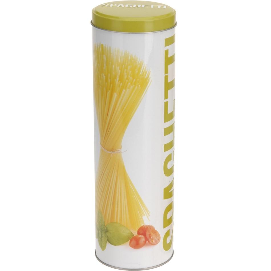 Plechová dóza Spaghetti žlutá